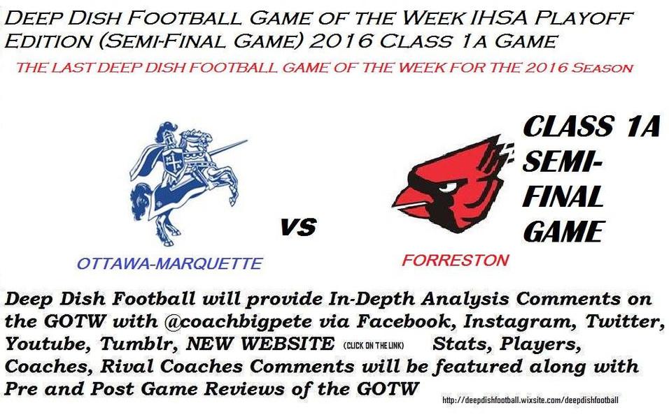 The Last Deep Dish Football GOTW of the Season Marquette vs Forreston