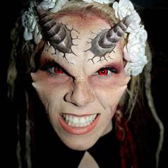 Make-up Artist- Caliann Sophia Feimer.   Model- Andrea Kovalik.  Six Flags Great Adventure.
