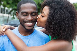 55806421-kissing-african-american-couple