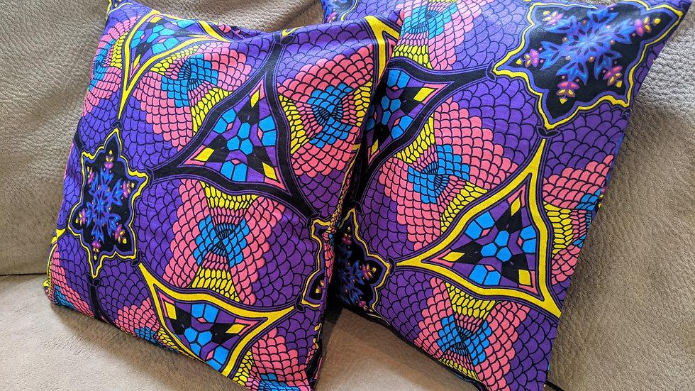 Square Pillows (Wax Purple), 1 piece)