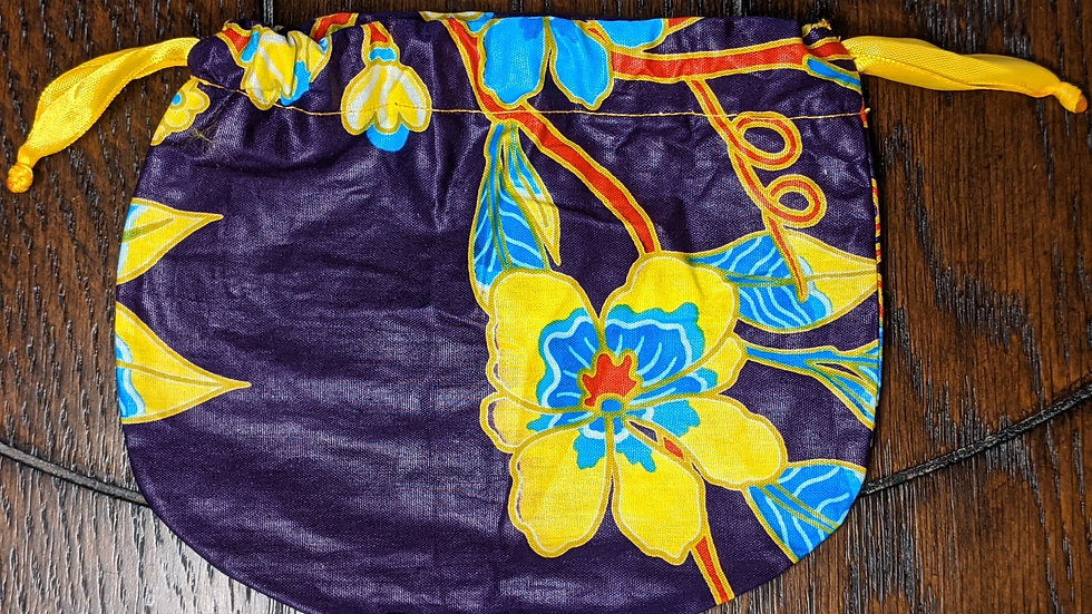 Purple and Yellow Small Pouch