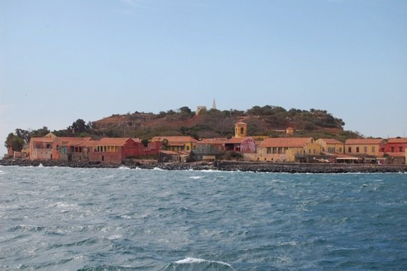 Goree Island from the ferry