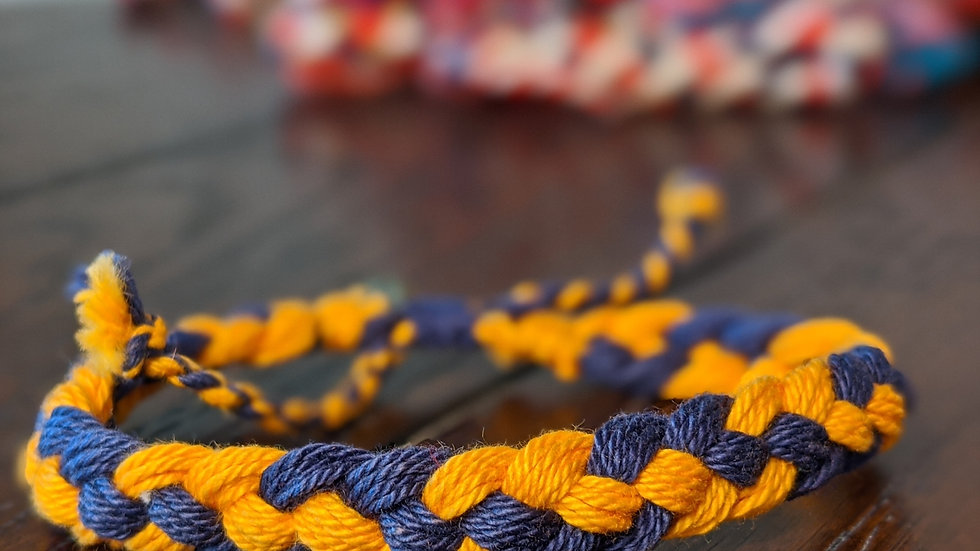 Yellow and Blue Bracelet