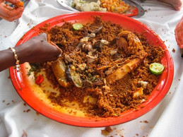 """Cheb-u-jen (Wolof for """"fish and rice""""), Senegal's national dish"""