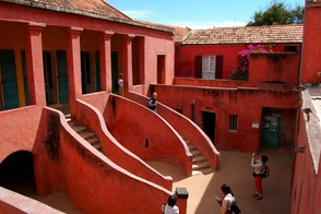 in the courtyard at the House of Slaves