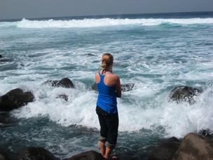 Katie enjoying the views on Ngor Island
