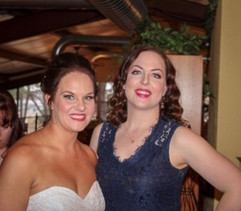 My client, the beautiful bride, on the left!