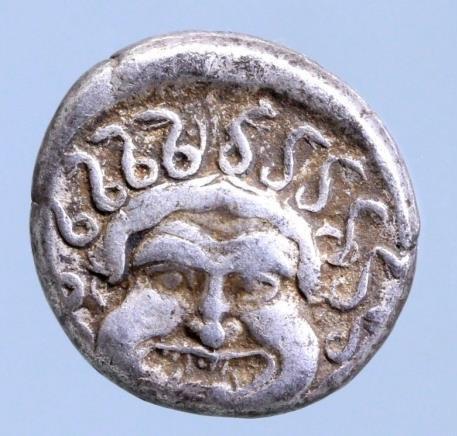 Moeda Grega Thrace, Apollonia Pontica AR Drachm