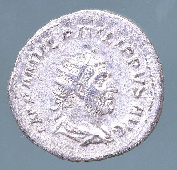 Moeda Romana Antoniniano de Felipe I (244-249 dC)