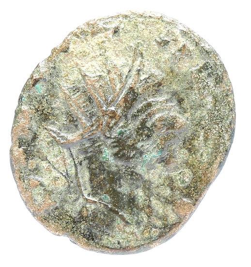 Moeda Romana de Divus Claudius II Gothicus, cunhagemde Quintillus ou Aurelian,