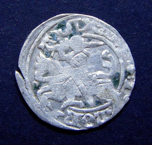 Moeda de prata da Lituânia (sob o domínio polonês) Alexandre I (1501-1506dC)
