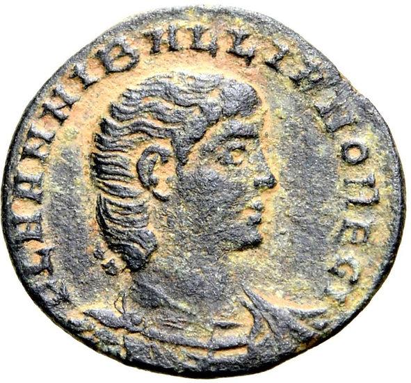 Moeda romana escassa de Hanniballianus (336-337 dC) (sobrinho de Constantino I)