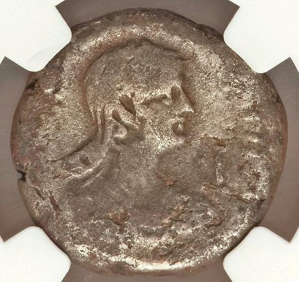 Moeda Provincial de Nero com Poppaea  54-68 RARA (13 conhecidas)