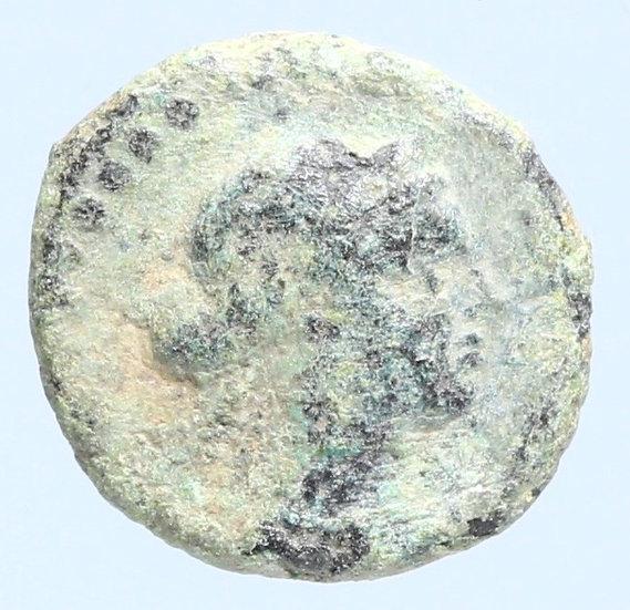 Moeda Greco-Egípcia de Cleopatra VII Thea Philopator (51-30 aC), Paphos