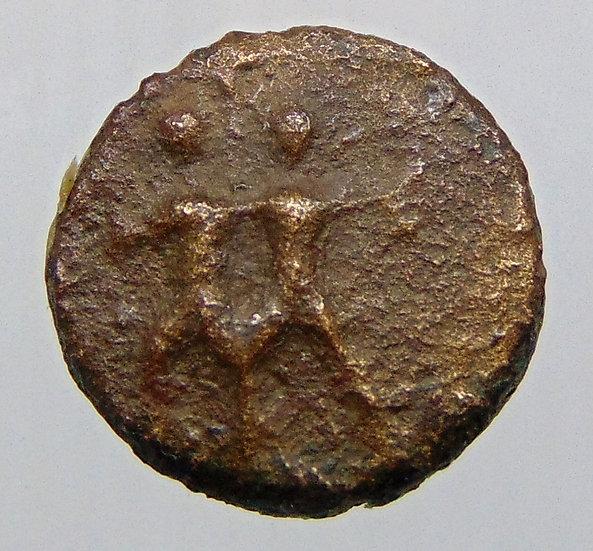 Moeda escassa da Pisidia. Etenna Ae (século I aC).