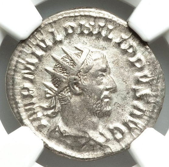 Moeda Romana Antoniniano de Felipe I - 244-249 dC CERTIFICADA NGC