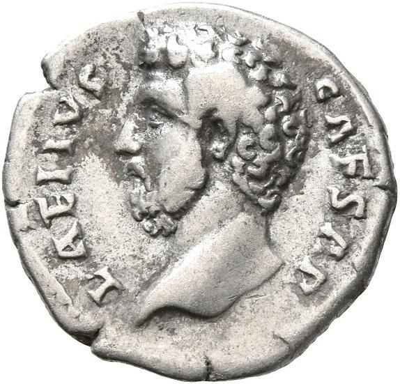 Moeda Romana Rara Denário de Aelius, Caesar (136-138 dC).