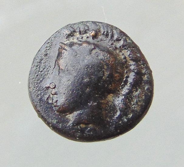 Moeda Grega Da Tessália - Pharsalos, Chalkous 400ac