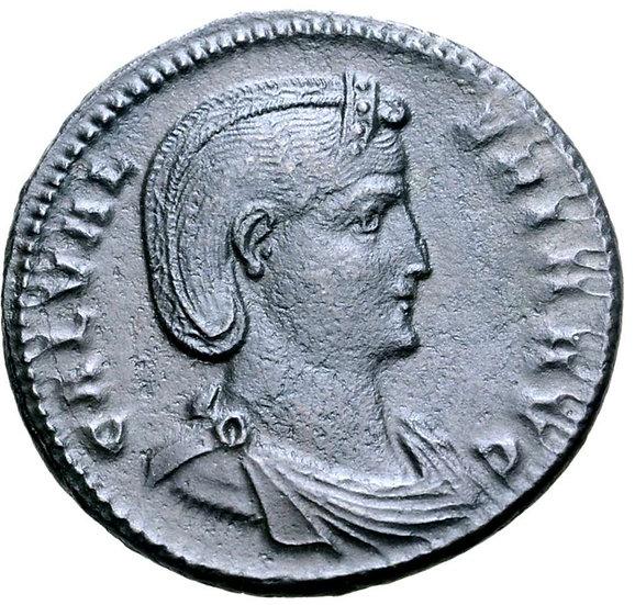 Moeda Romana de Galeria Valeria (esposa de Galerius) Æ Nummus. 308-309 dC