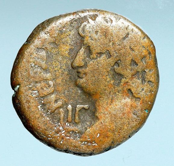 Moeda Tetradracma Bl Provincial de Nero (67/68 dC - ano 14)