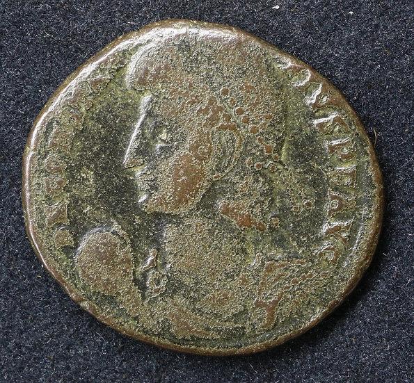 Moeda Romana de Constantius II, 337-361. Centenionalis