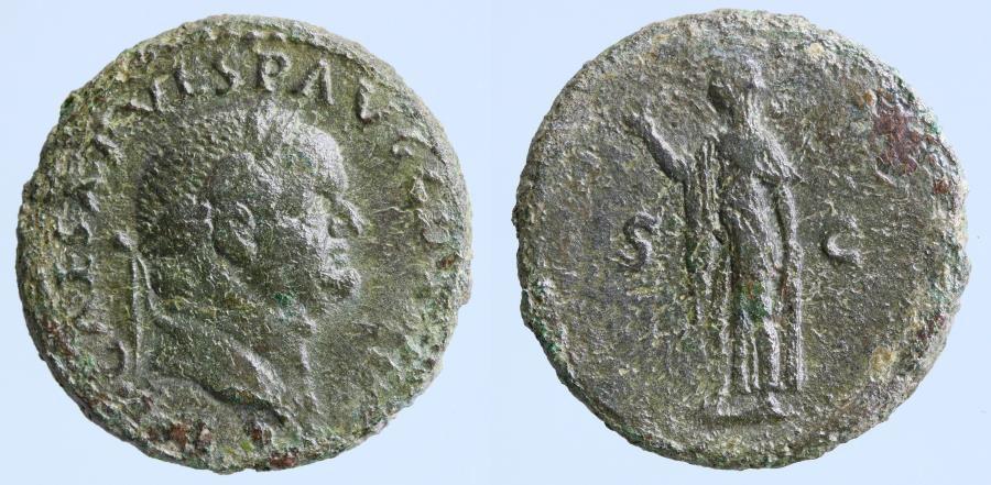 Moeda Romana: Vespasian A.D. 69-79. AE as