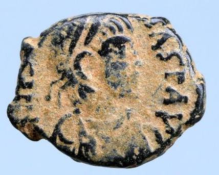 Moeda Bizantina Justin I. A.D. 518-527.