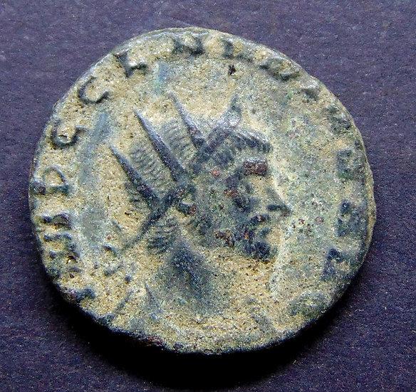 Moeda romana antoniniano de Cláudio Gótico (268-270 dC)