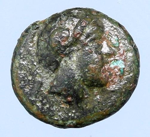Moeda Grega escassa de Troas, Sigeion Æ10 (400 aC).