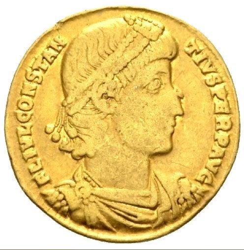 Moeda Romana Solidus de Constantius II (337-361 dC)