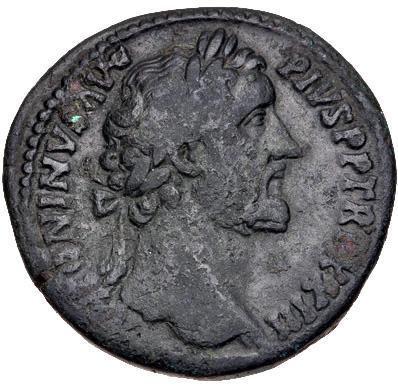 Moeda romana Antoninus Pius.AD 138-161. Æ Sestertius (32.5mm, 22.85 g, 12h)
