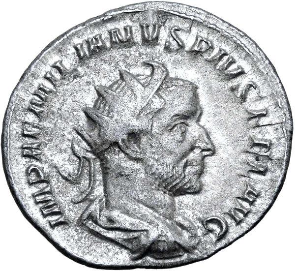 Moeda Romana Rara Antoniniano de Aemilian. Roma, 253 dC.