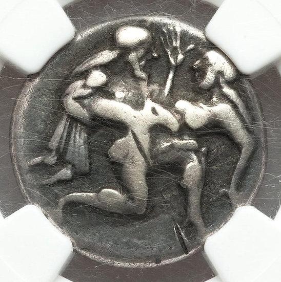 Moeda Grega Stater de Thásos (525-463 aC) CERTIFICADA NGC