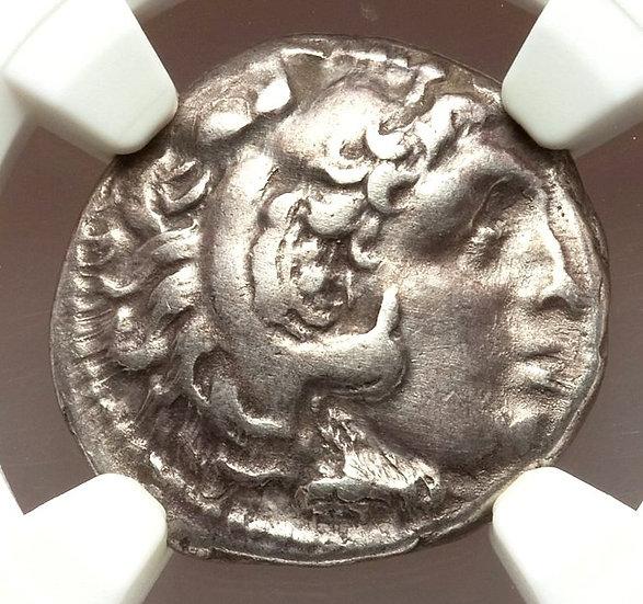 Moeda Grega Dracma de Alexandre III O Grande (336-323 aC) Certificado N