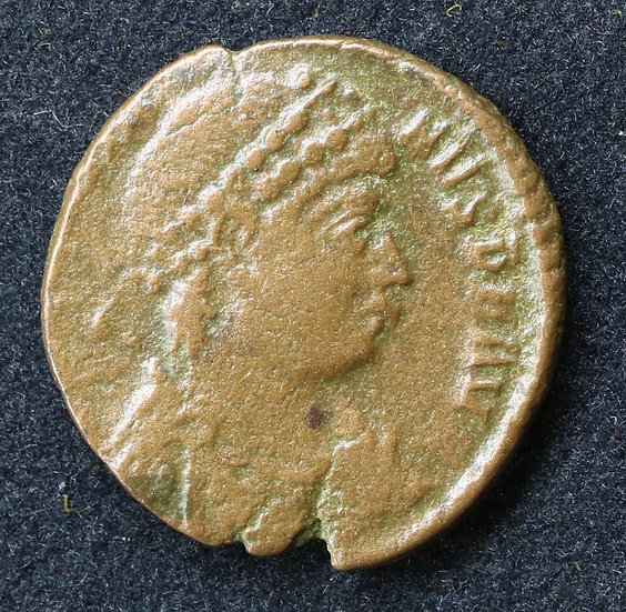 Moeda romana de Graciano 378-383 dC