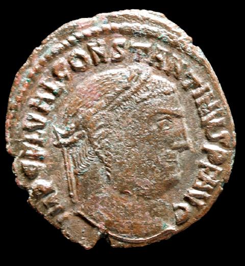 Moeda Romana de Constantino I (307-337 dC).