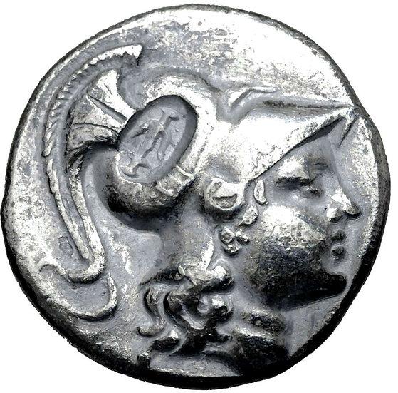 Moeda Grega Escassa Tetradracma da Pamphylia, Side (Cerca de 183-175 aC).