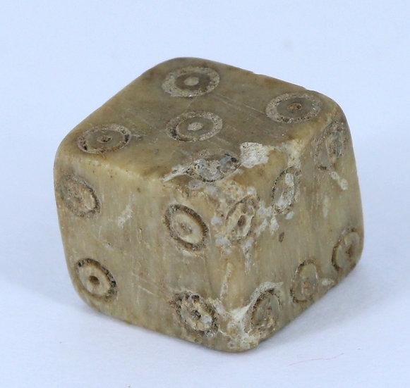 Dado de osso da Roma Antiga 200 dC