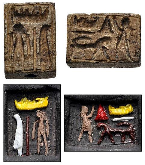 Placa de esteatite. Egito, Novo Reino, 1550-1077 aC.