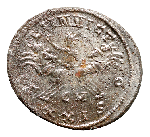 Moeda Romana Escassa Antoniniano de Probus (276-282 dC). Cunhada em Cyzicus, na