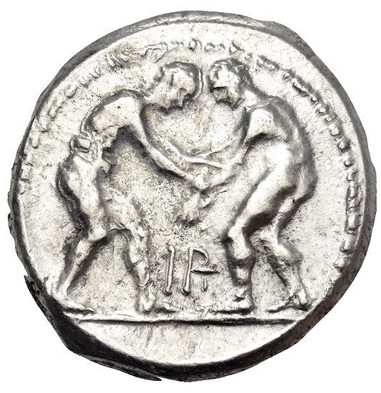 Moeda Grega PAMFILIA. Aspendos. Cerca de 330 / 25-300 / 250 aC.