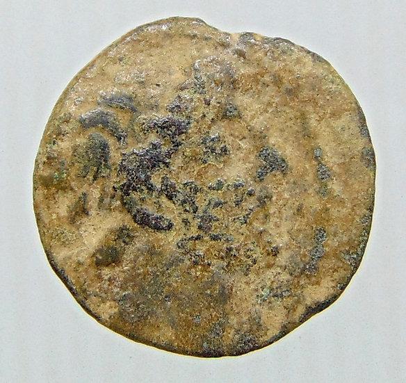 Moeda Grega AE 18 de Antiochos IX (114 / 3-95 aC).