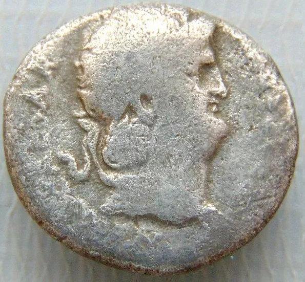 Raro Denário de Nero - Concórdia - 64-65 dC - Roma