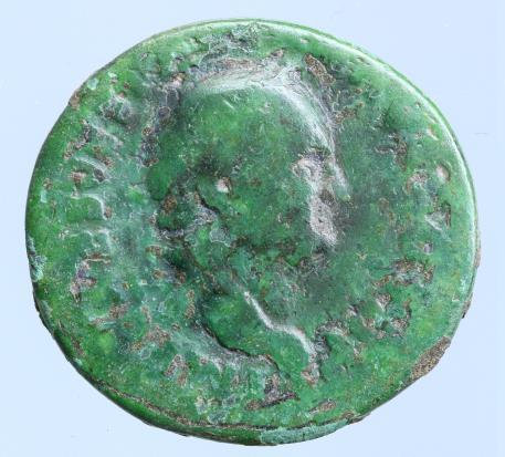 Moeda Romana Vespasian. AE As (8,77 g; 24mm), AD 69-79.