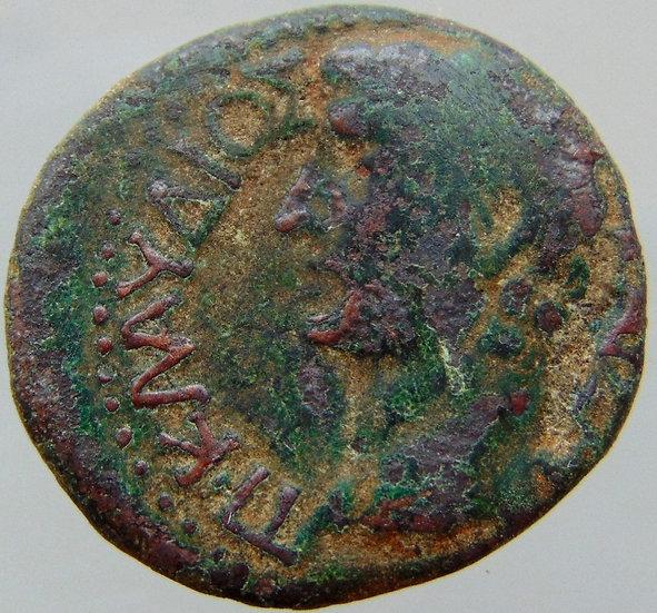 Moeda Grega Provincia ESCASSA Koinon Macedônia - Imperador Cláudio - 41/54dC