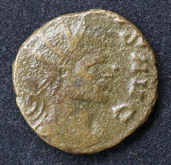 Moeda romana de Claudius II Gothicus. 268-270 dC.