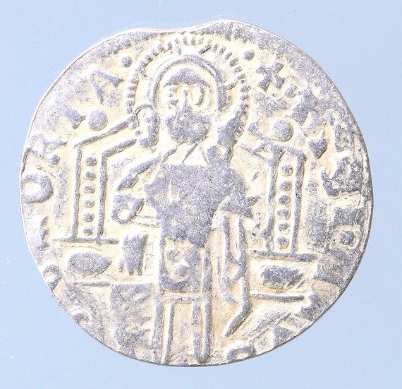 Moeda Veneziana Grosso de Prata Antonio Venier 1382-1400