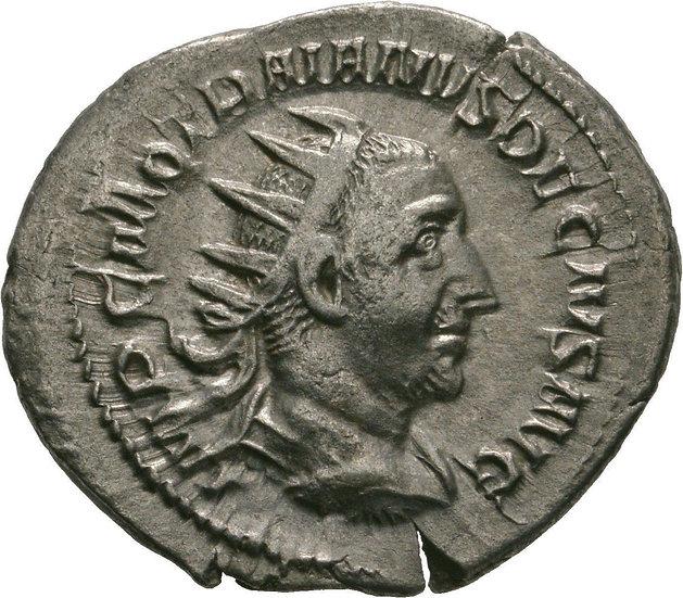 Moeda Romana Antoniniano de Traianus Decius, 249-251 dC