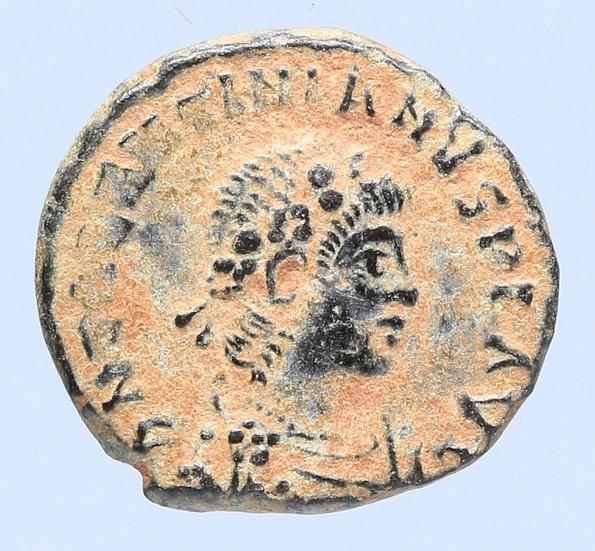 Moeda Romana RARA de Valentiniano II (375-392).