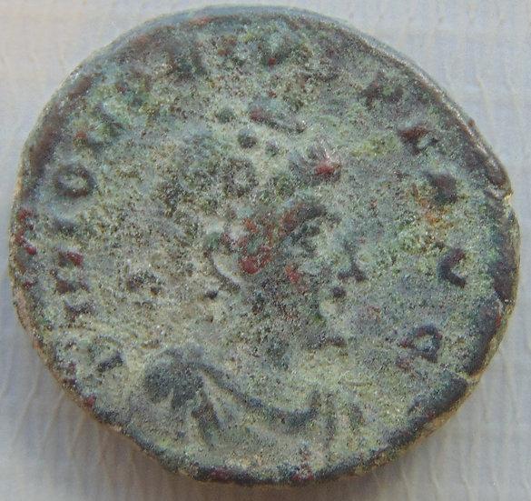 Moeda Romana Antiga Honório - GLORIA ROMANORVM